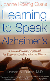 Book cover Learning to speak Alzheimers